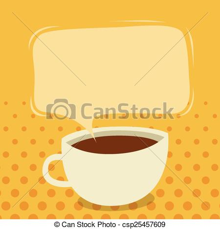 Cup clipart coffee talk Of illustration Vector talk of