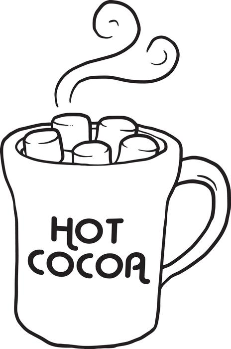 Winter clipart hot cocoa Of Page Hot Cup Coloring