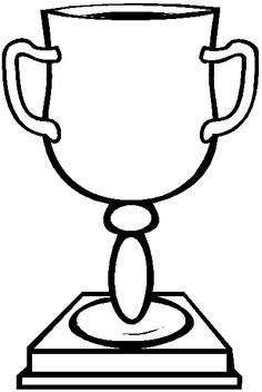 Trophy clipart fun Coloring Cup drawings Cup coloring