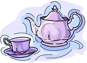 Kettle clipart smoke A Teapot Purple Cup with