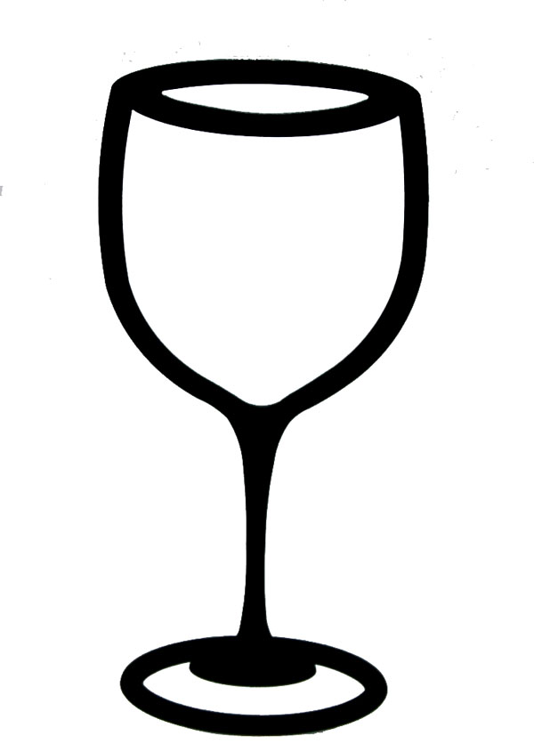 Black clipart wine glass #14