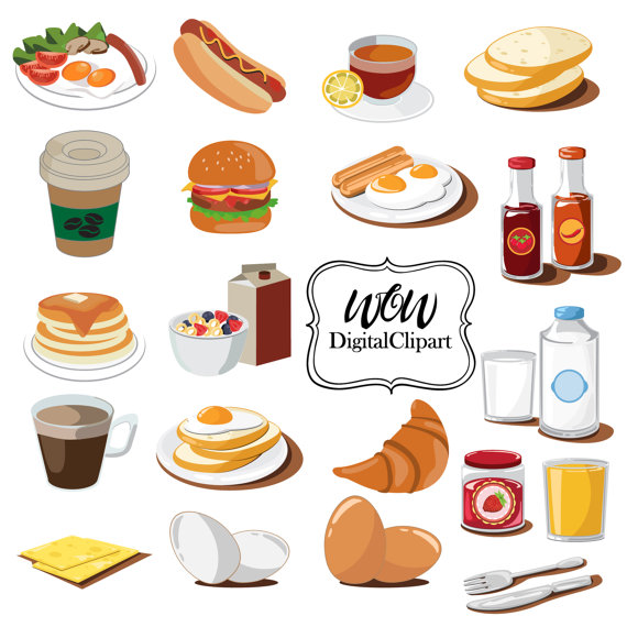Brownie clipart cafe food Clipart Digital Coffee Muffin Art