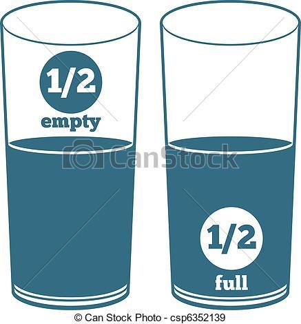 Drawn glasses Half Cup Clipart  Full