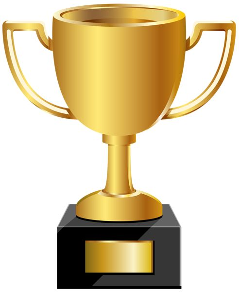 Yellow clipart trophy On Golden images Art 23