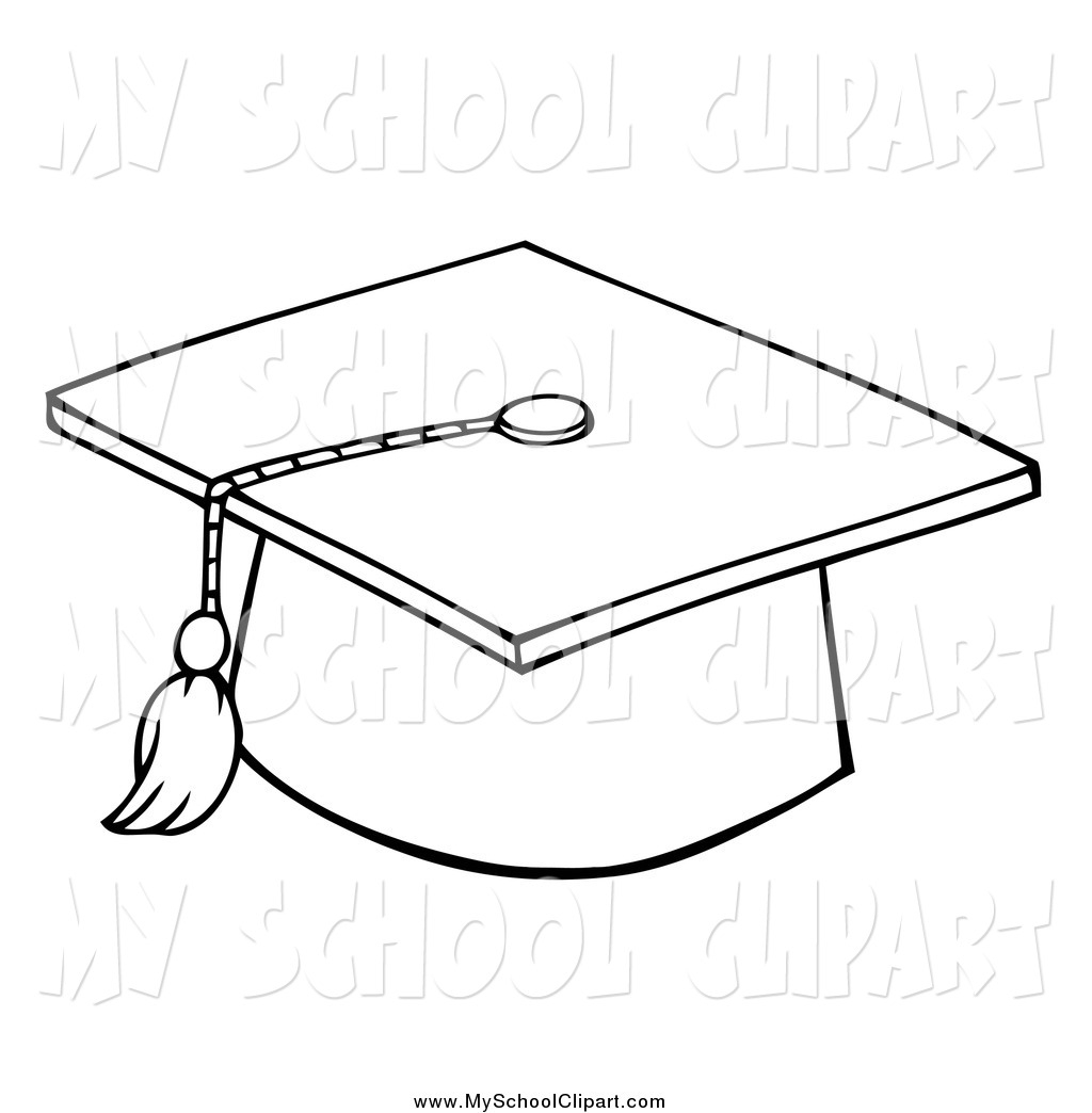 Drawn hat grad #4
