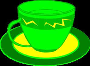 Teacup clipart green tea Yellow online Clker Clip Clip