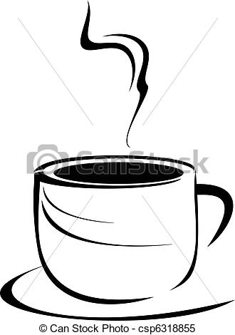 Tea Cup clipart drawn Cup  csp6318855 stylized Clipart