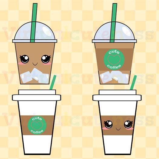 Cup clipart iced coffee Art Espresso Clip Virtualcuteness by