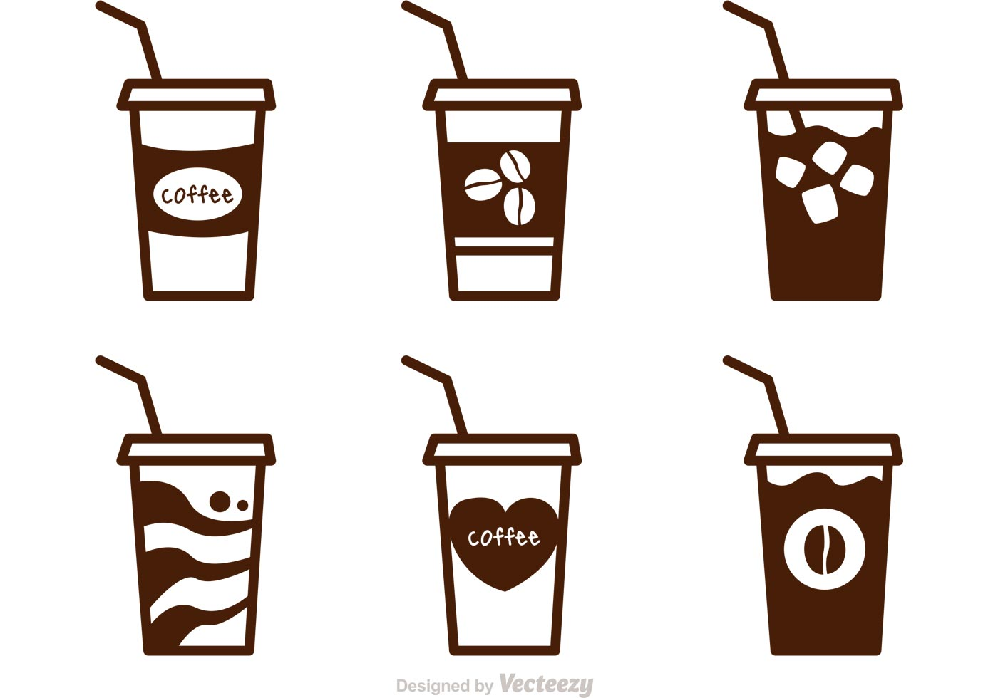 Cup clipart iced coffee Black Free Clip  on
