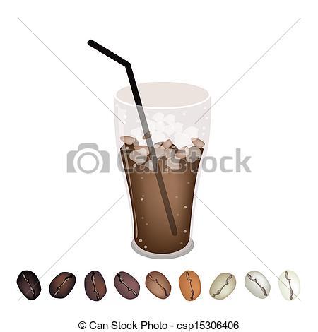 Cup clipart iced coffee Iced Under Row Clipart A