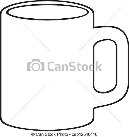 Mug clipart black and white Vector Vector mug (white