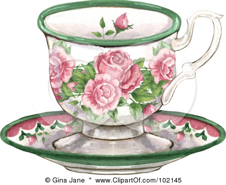 Teacup clipart vintage tea cup Of Illustration 102145 Free Royalty