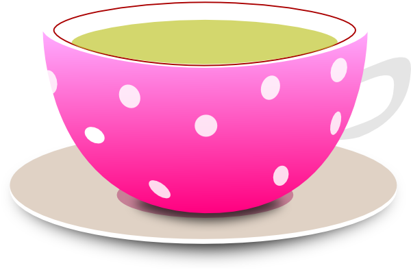 Teacup clipart cup plate Vector image Clker at royalty