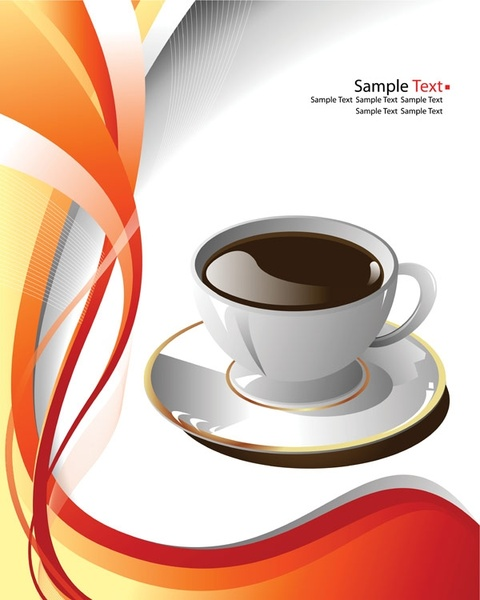 Teacup clipart orange Vector) Cup for 172 clip