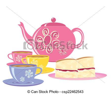Teacup clipart refreshments  EPS a Vector of