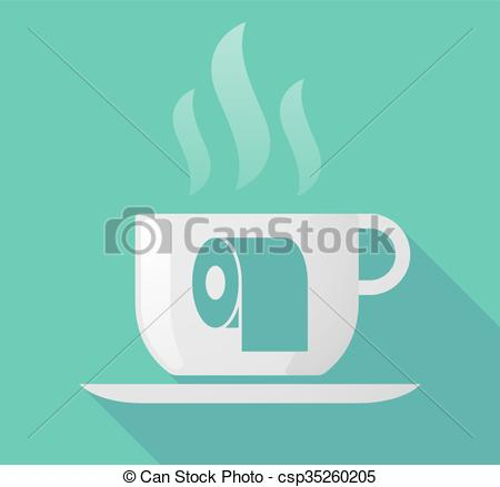 Coffee clipart shadow Csp35260205 paper Long with