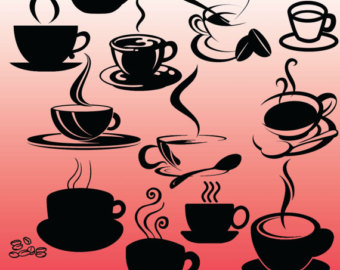 Pink clipart coffee cup Silhouette Design Cup Clipart 12