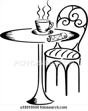 Coffee clipart bistro Free clipart Clipart Cafe black