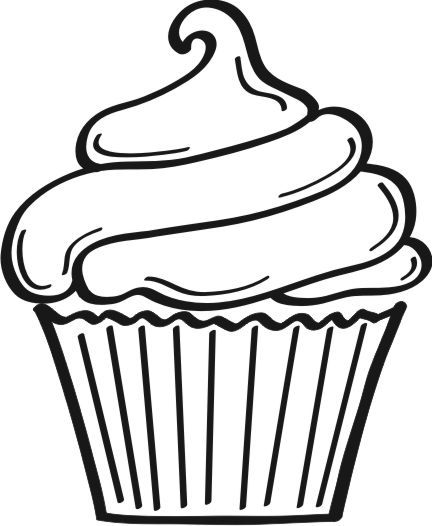 Drawn cupcake silhouette ClipArt on ideas Cupcake graphic