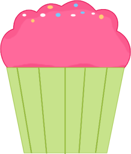 Muffin clipart plain Clip Pink Art Images Cupcake