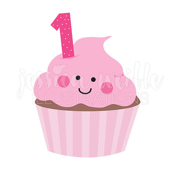 Vanilla Cupcake clipart 1st JWIllustrations Pink First Clipart Clipart