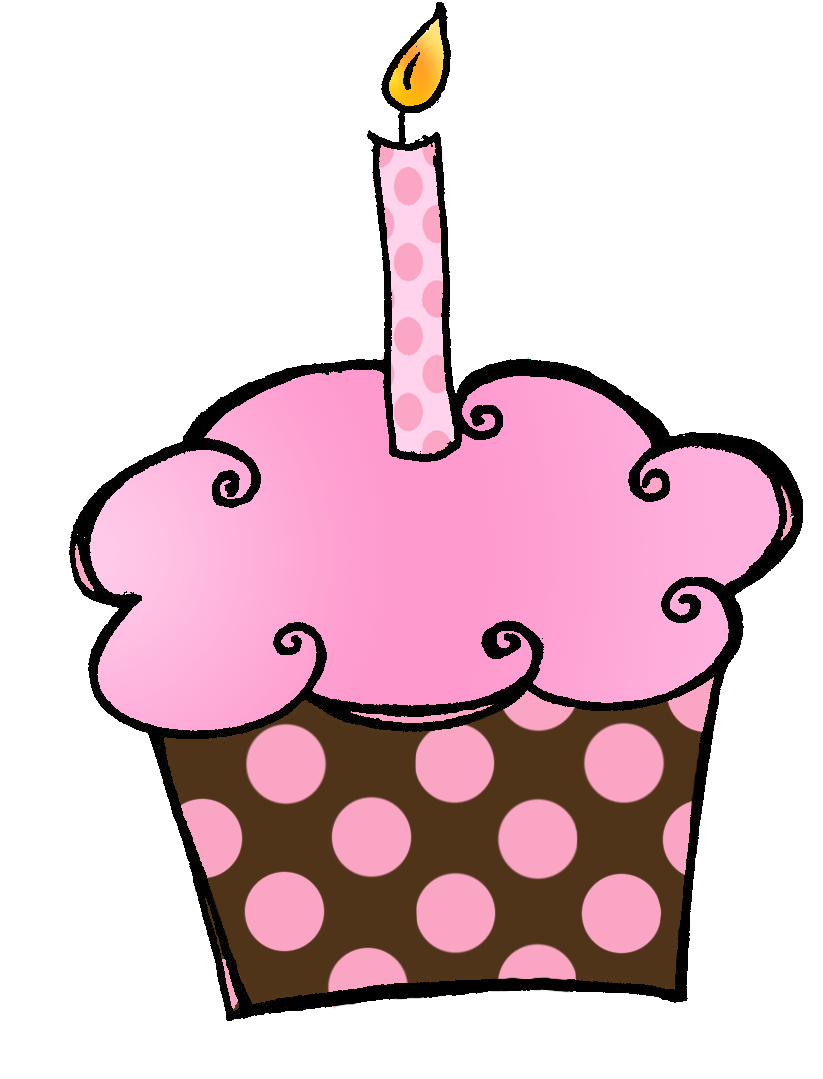 Vanilla Cupcake clipart 1st Clipart clipart Birthday Bay Clipart