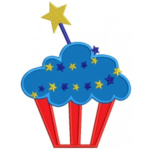 American Flag clipart cupcake A of Flag 4th American