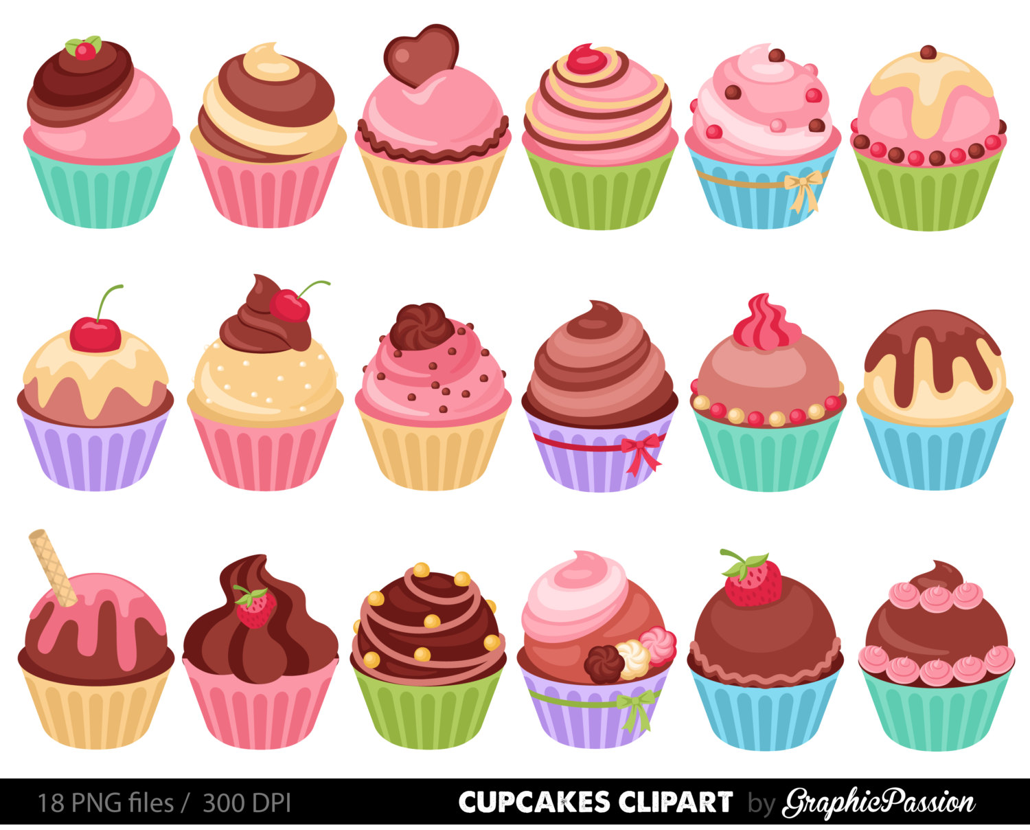 Khife clipart green Cupcake bakery illustration sweets cupcake