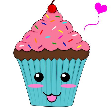 Vanilla Cupcake clipart animated Pinterest Party/ Sukino Logo by