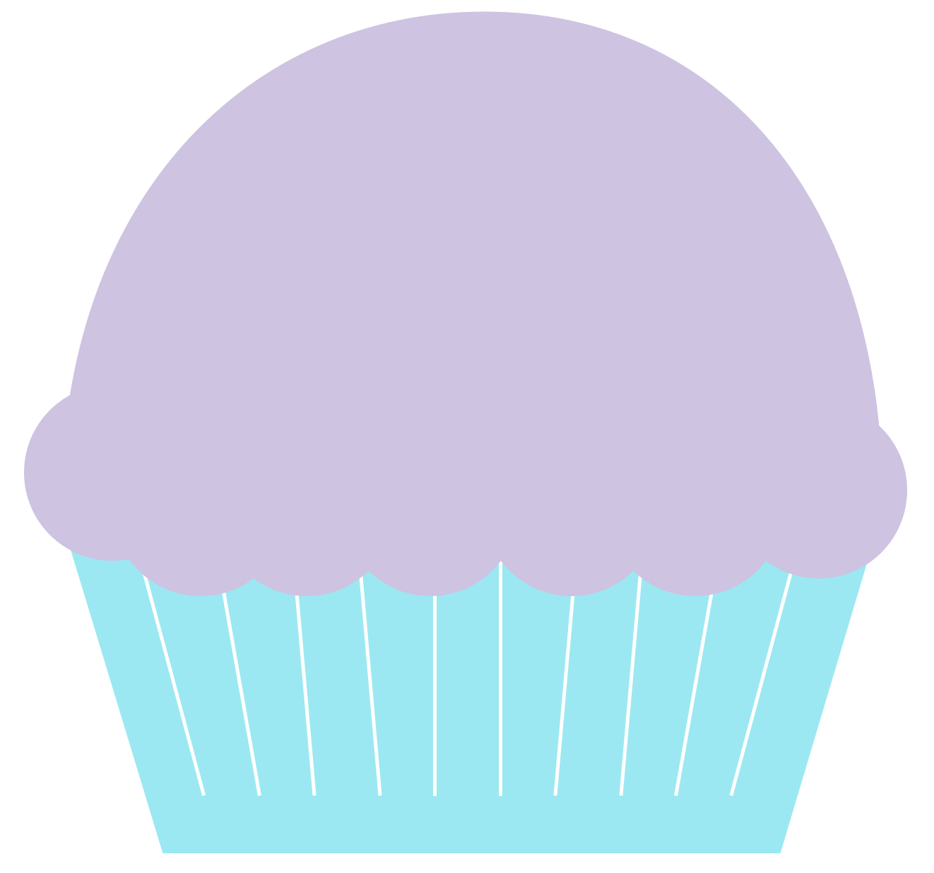 Muffin clipart purple Clipart free blue and Part
