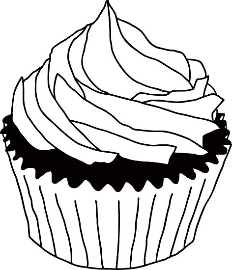 Frosting clipart black and white Clipart Clipart Free And Clipart