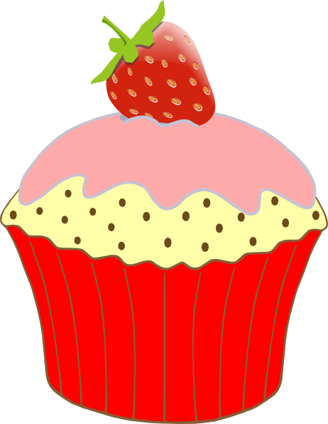 Muffin clipart strawberry cupcake Clipart cartoon and border images