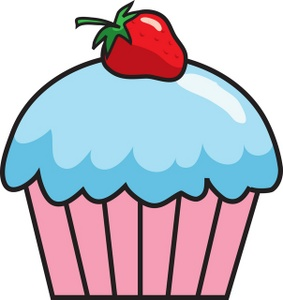 Chocolate clipart strawberry cupcake Cartoon outline image clipart clipart