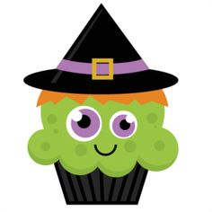 Witch clipart broom silhouette Cupcakes Clip Clipart cut free