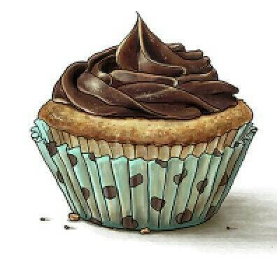 Vanilla Cupcake clipart choclate Cuccina printable Pinterest cupcake cupcake