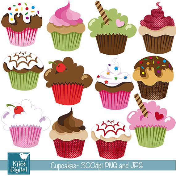 Cake clipart cute cupcake Design Digital Scrapbooking invitations Cute