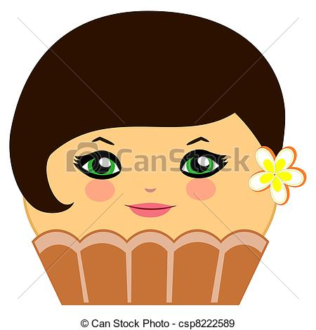 Coture clipart cartoon A of cute Chocolate Cute