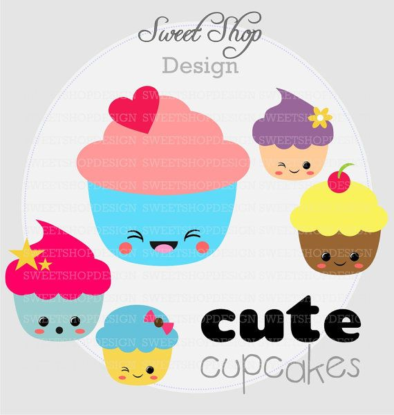 Muffin clipart kawaii CUPCAKES images on clipart Instant