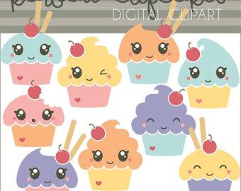 Muffin clipart kawaii Kawaii Cute Commercial Cupcakes Cupcakes
