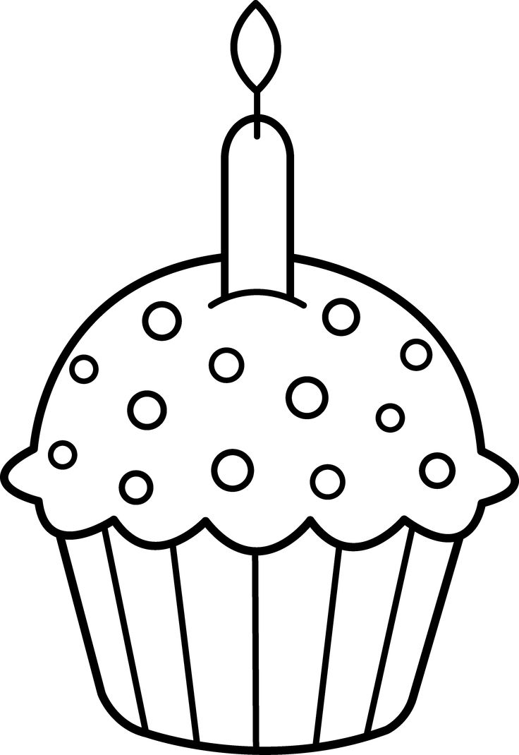 Color clipart birthday Cake Drawings How Birthday Cupcake