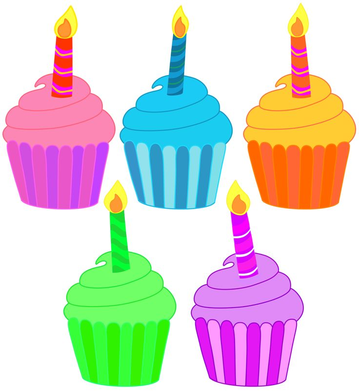 Vanilla Cupcake clipart candle clipart Birthday Clipart clipart collection Cupcake