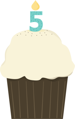 Vanilla Cupcake clipart candle clipart Birthday Cupcake Cupcake Cupcake Images