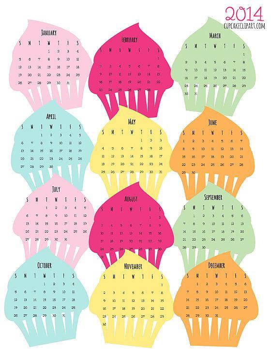 Calendar clipart pink Art Pinterest clip images Cupcake
