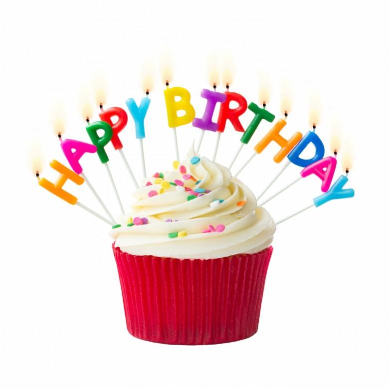 Vanilla Cupcake clipart happy birthday Cupcake  birthday Clipart Happy
