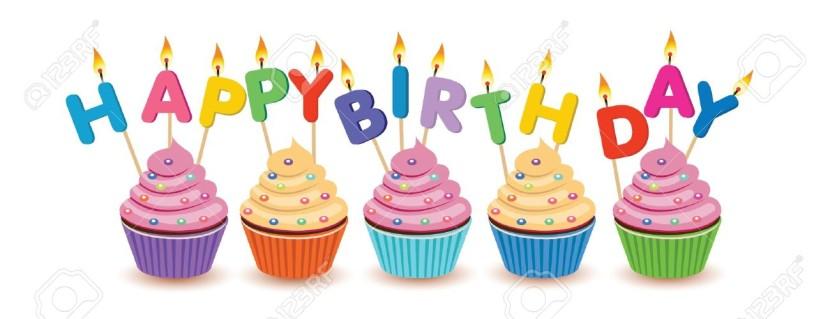 Vanilla Cupcake clipart happy birthday Happy Birthday Cupcakes Clipartion Birthday