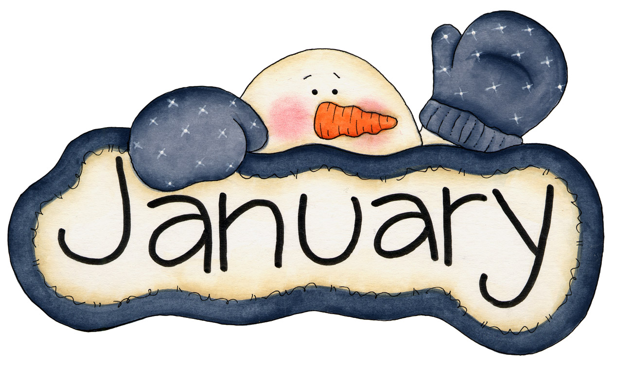 Winter clipart calendar Clipart Art pw January Free