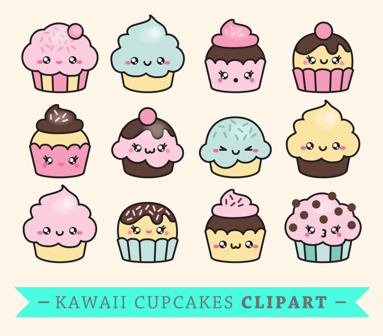 Muffin clipart kawaii Cupcakes Like Cute Premium Vector