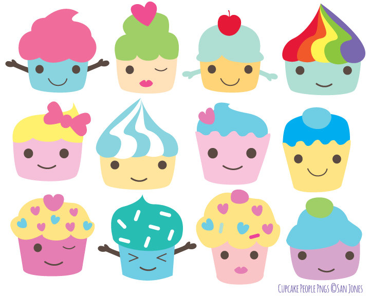 Muffin clipart cute cake Cupcakes Characters Cupcake  Art