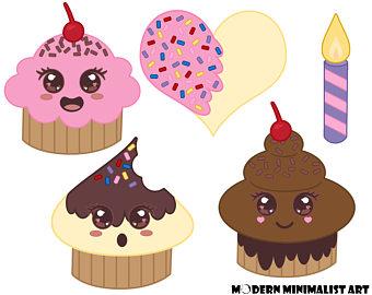 Muffin clipart kawaii Candle Cute 5 Clipart Cupcakes