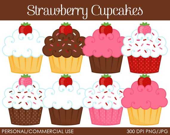 Muffin clipart strawberry cupcake Clip Best Use Clipart on